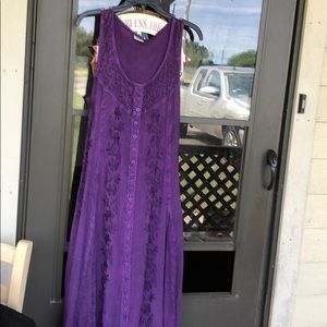 Advance Apparels long purple dress w back tie